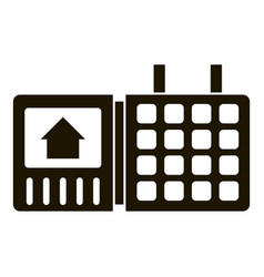 security home keypad icon simple style vector image