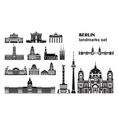 Set berlin landmarks vector