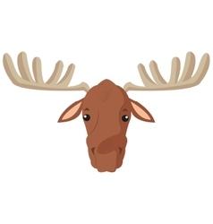Single moose icon vector