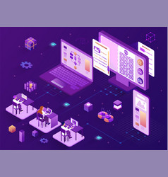 software development concept vector image