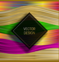 Square frame on saturated colorful background vector