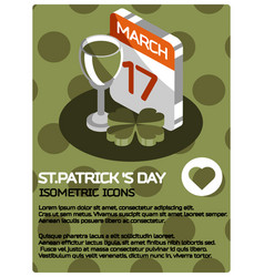 stpatricks day color poster vector image