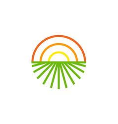 Sunlight farm logo icon design vector