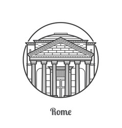 Travel rome icon vector
