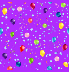 violet happy birthday pattern vector image