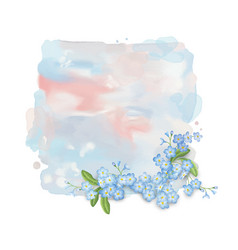 watercolor banner with flowers vector image