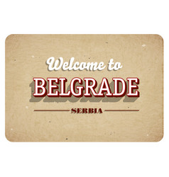 Welcome to belgrade vector