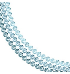 White background with blue diamonds vector