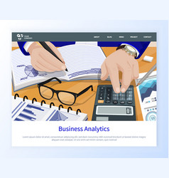 workers hands counting business analytics vector image