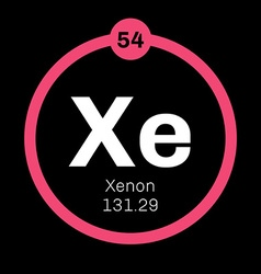 Xenon chemical element vector