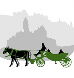 carriage3 vector image vector image