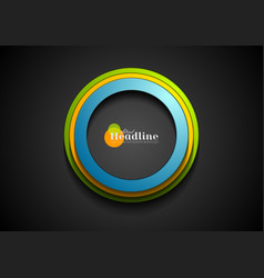 colorful corporate circles logo background vector image