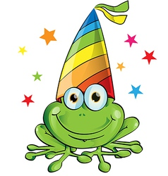 crazy frog party cartoon on white background vector image