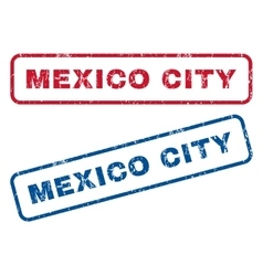 Mexico City Rubber Stamps vector image vector image