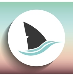 shark icon design vector image vector image