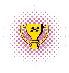 Trophy cup icon comics style vector image vector image