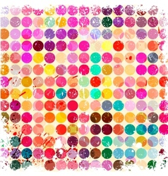 Abstract circles background with grunge paper vector image