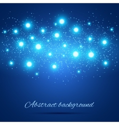Blue Background with Lights vector image