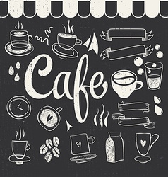Cafe Set vector image vector image