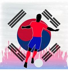 Football Korea vector image vector image