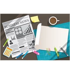 Newspaper and Blank Paper Object Background vector image vector image