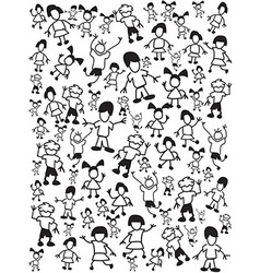 seamless doodle kids background vector image vector image