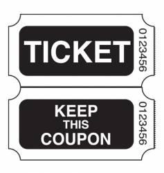 ticket stub vector image vector image