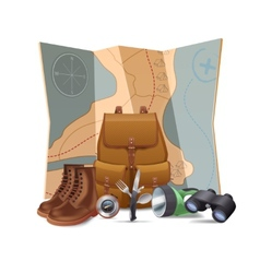 Tourism Hike Concept vector image