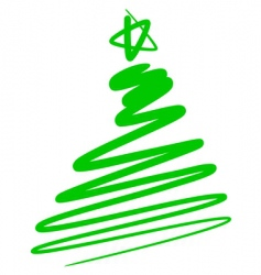 Abstract Christmas tree a simple drawing vector image vector image