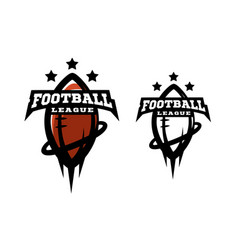 american football two options logo vector image vector image