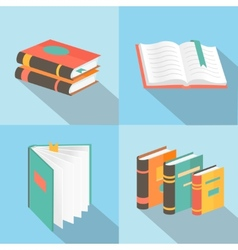 Book signs and symbols - education concepts in vector
