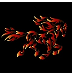 fire horse tattoo vector image