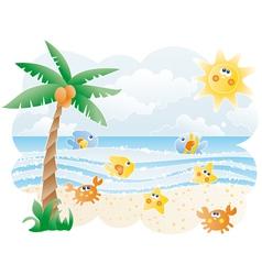 Funny Beach vector image