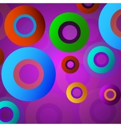 Abstract colorful background with circles vector image