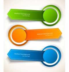 Abstract colorful tags vector image