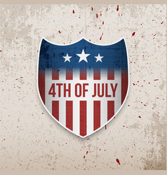 Fourth of july united states greeting banner vector