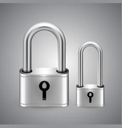 Padlock icon keyhole vector