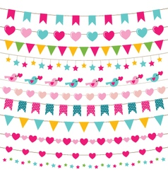 Party bunting set vector image