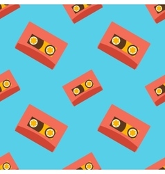 Retro audio casettes seamless pattern vector image vector image