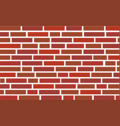 3d red brick wall vector
