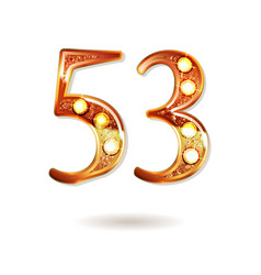 53 years anniversary celebration design vector image