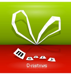 Abstract Christmas ribbon vector image