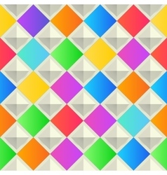 Abstract colorful background with rhombus shapes vector