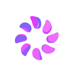 abstract purple flower logo template vector image