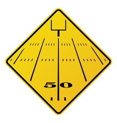 American football field road sign vector