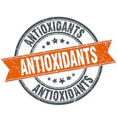 Antioxidants round orange grungy vintage isolated vector