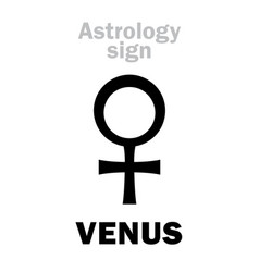 Astrology planet venus female vector