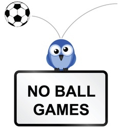 BALL GAMES SIGN vector image