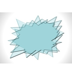 Bang shaped glass plates vector image
