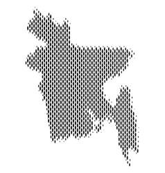 Bangladesh map population demographics vector